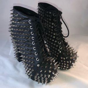 Jeffrey Campbell Lita Spike Platform Ankle Boots